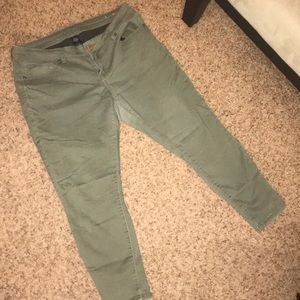 Vanity Olive Green Jeans